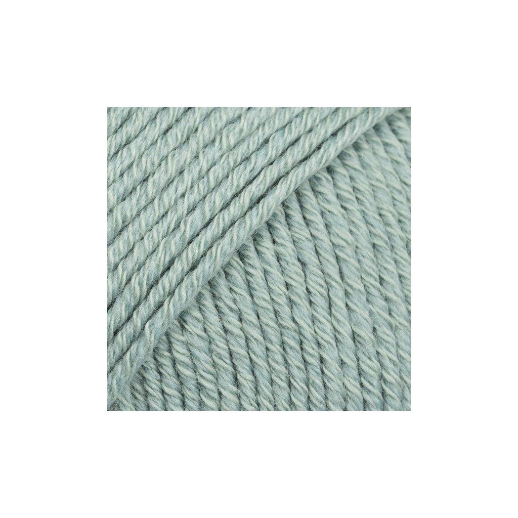 Drops Cotton Merino 29 - šedozelená
