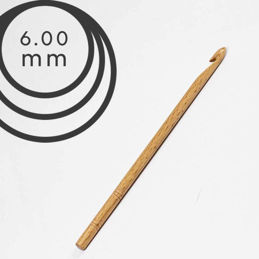 Háček Drops 6,0 mm dřevěný