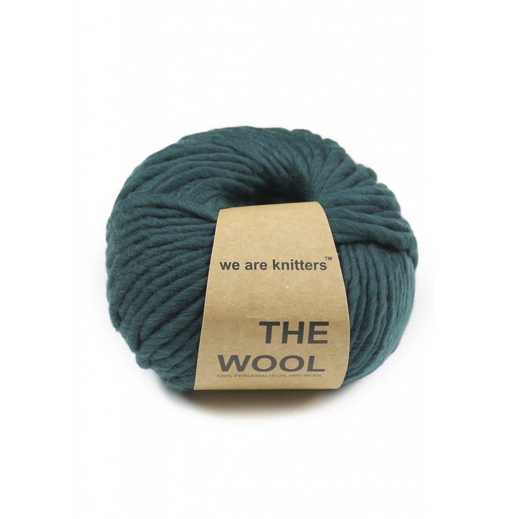 lana ovillos tejer verde bosque 1