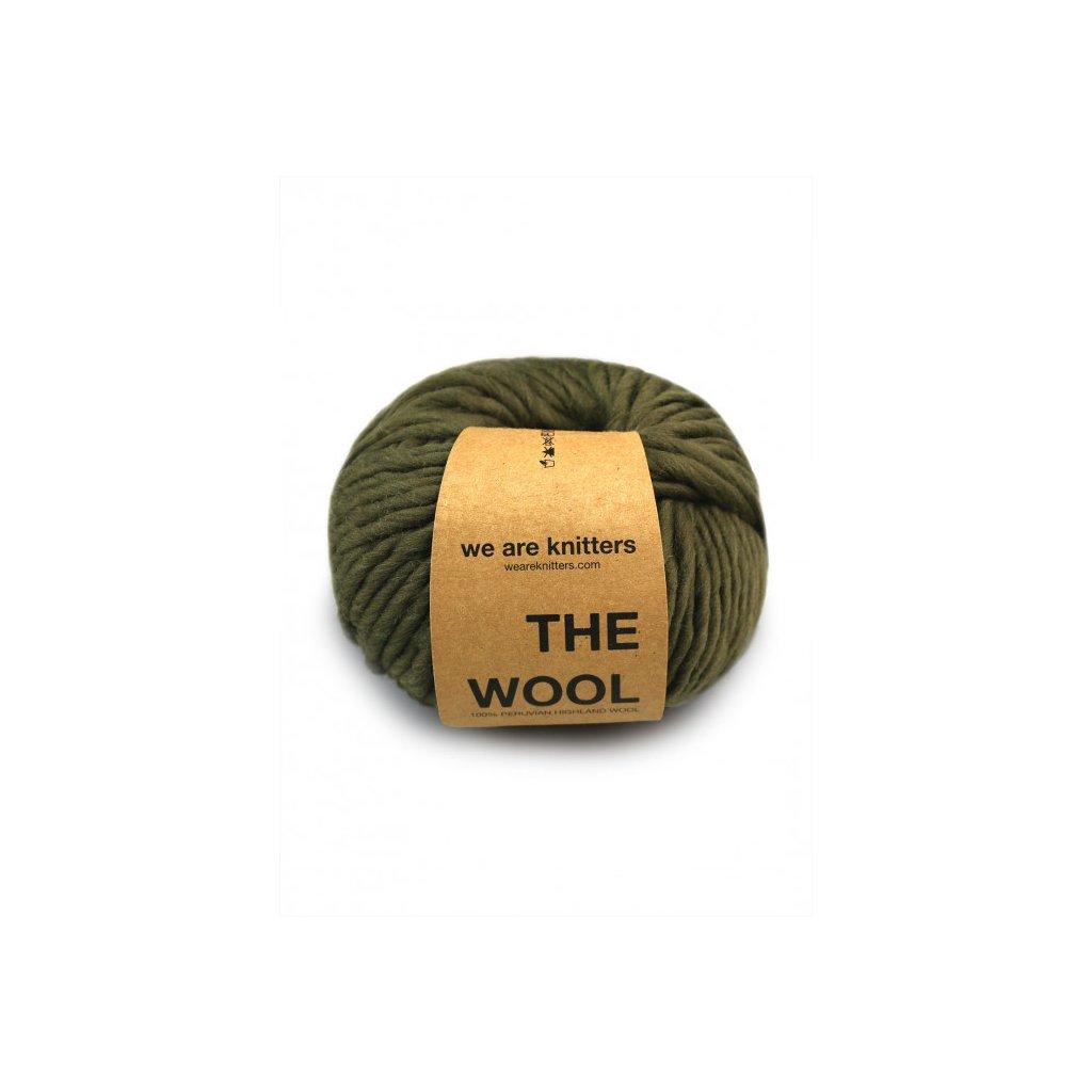 skein wool knitting olive olive EN 01