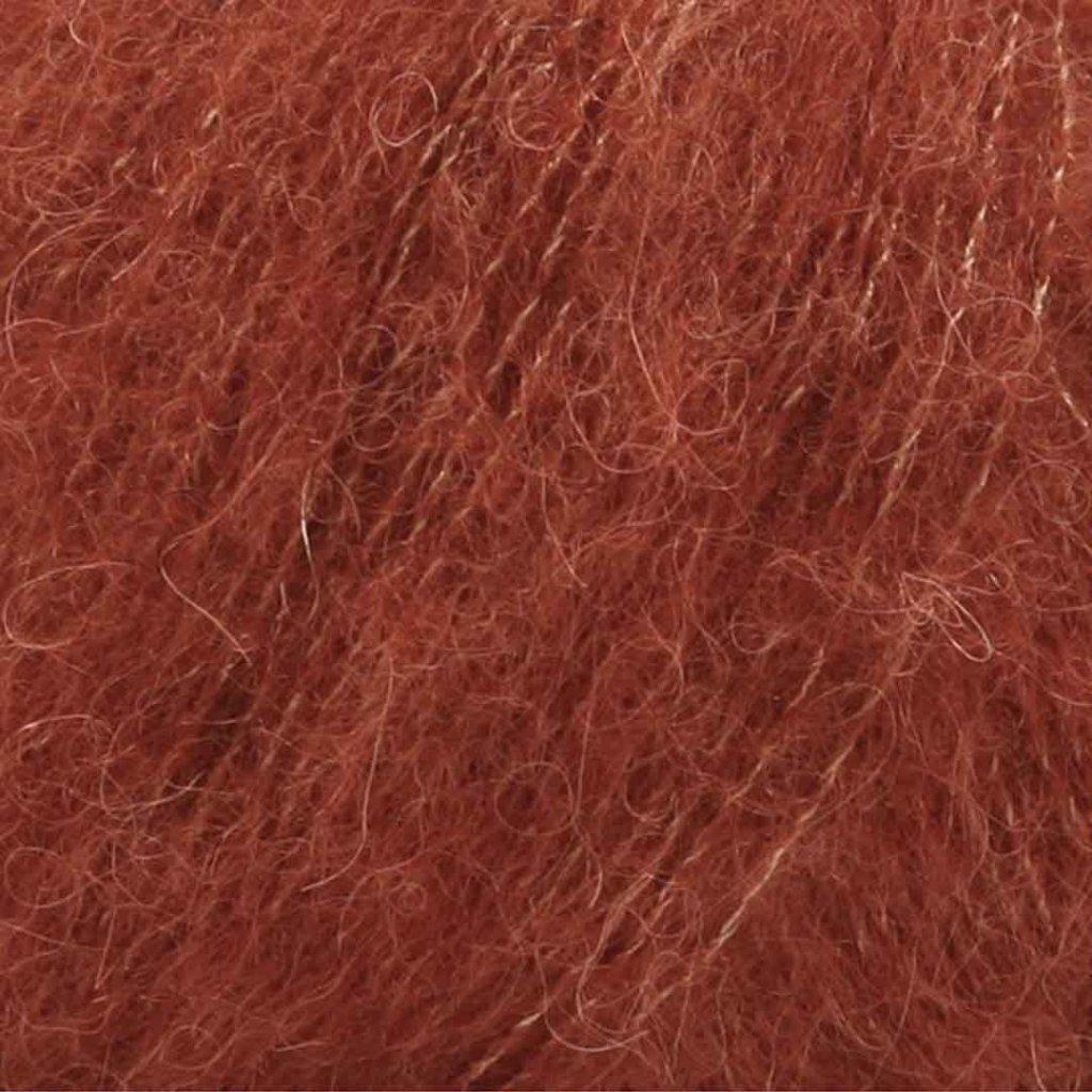 Drops Brushed Alpaca Silk 24 - rezavá
