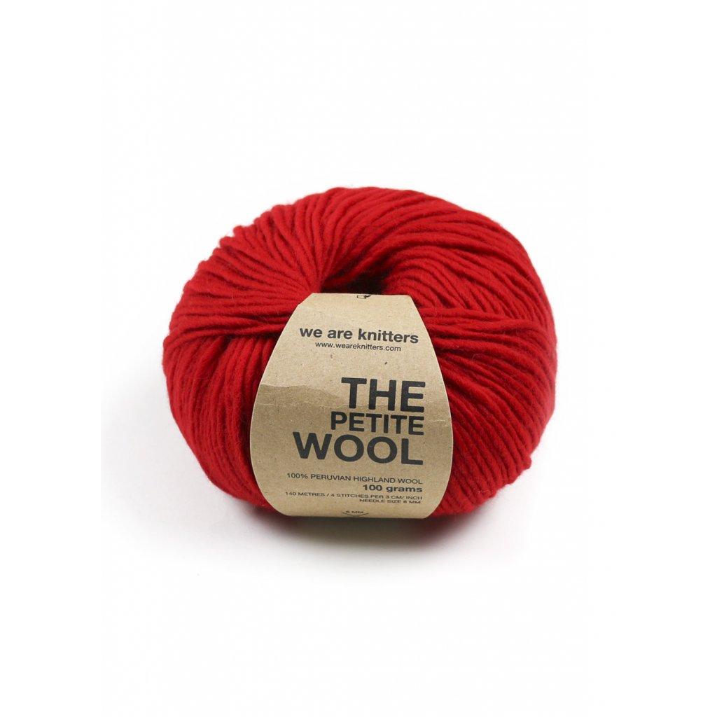 petite wool yarn balls red 1
