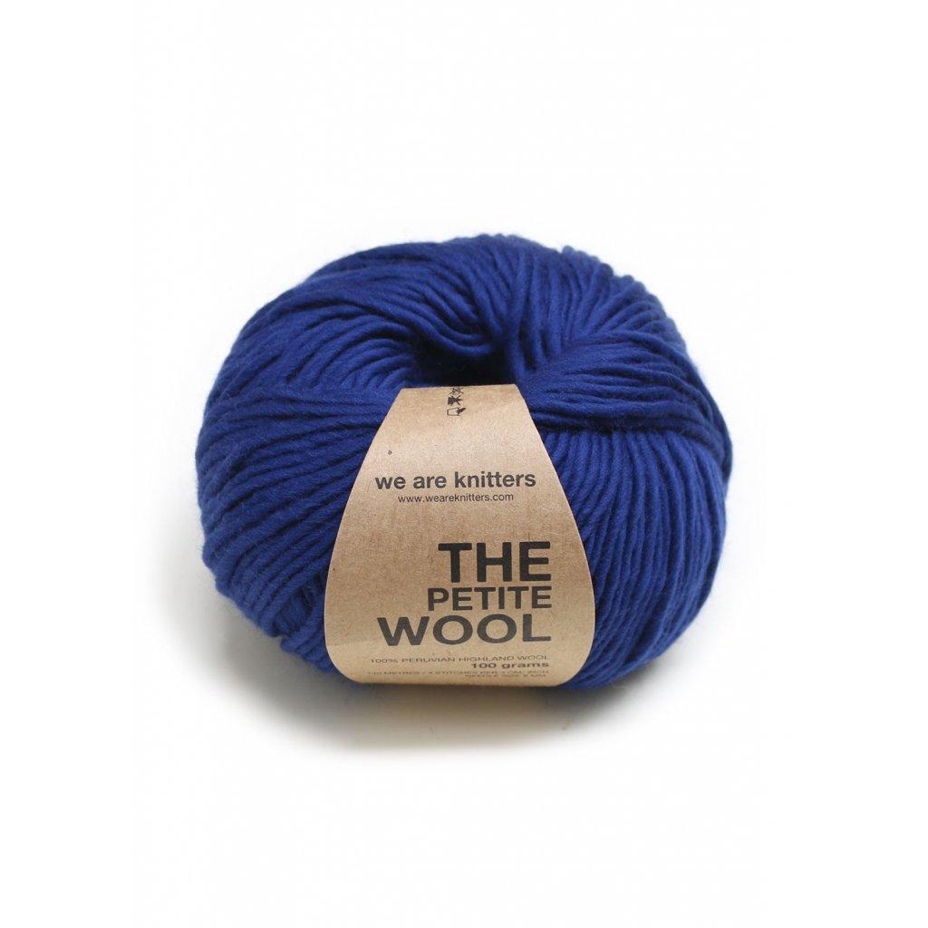 petite wool yarn balls knitting navy blue 1