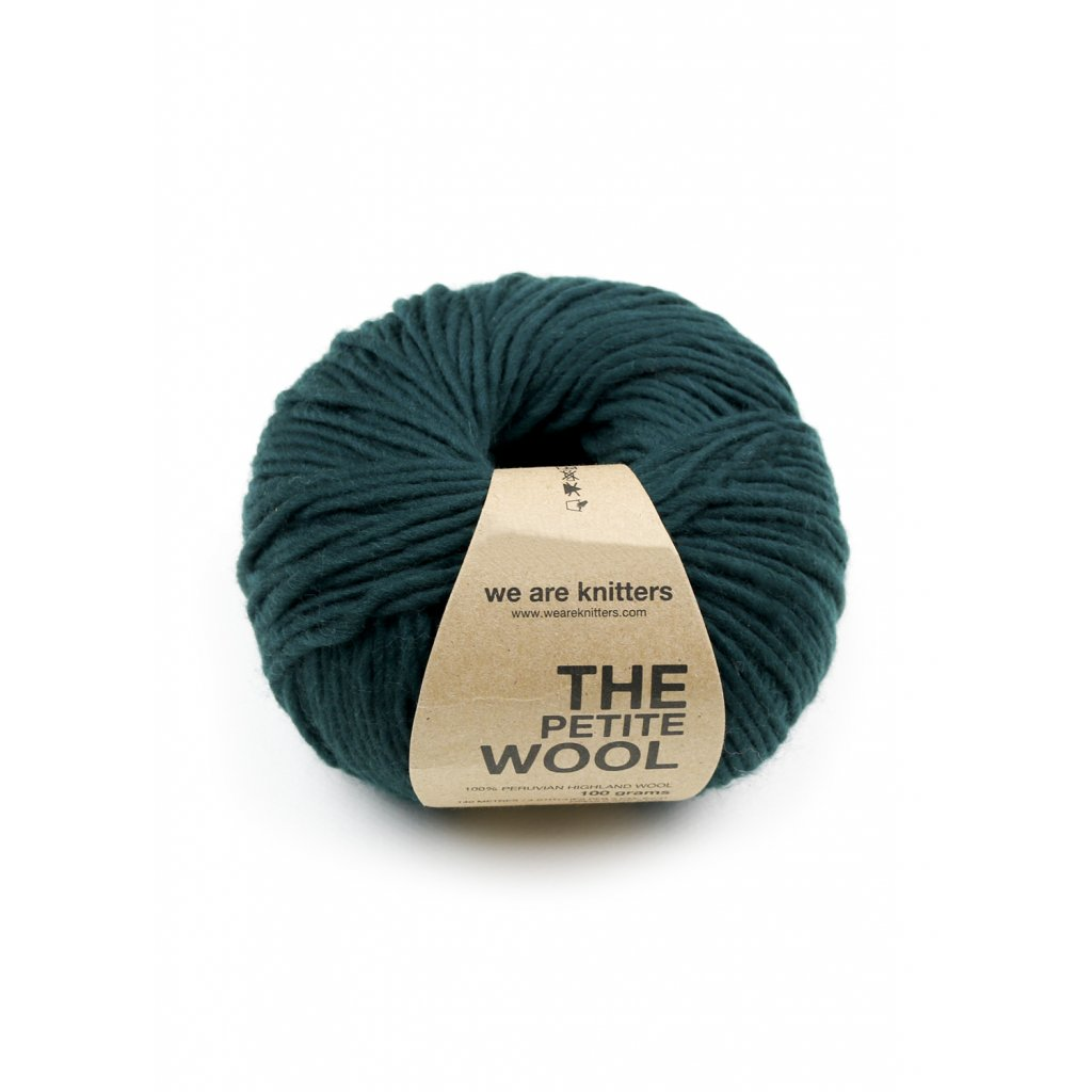petite wool yarn ball knitting forest green 1