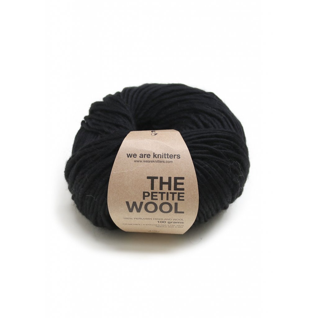 EN petite wool yarn balls knitting black 1 WAK PET 0500 0