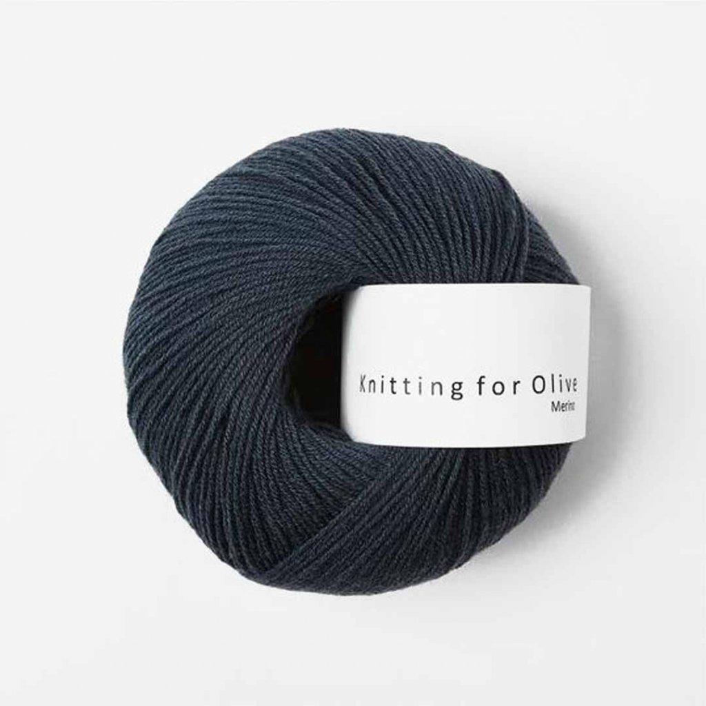 Knitting for Olive Merino - Deep Petroleum Blue