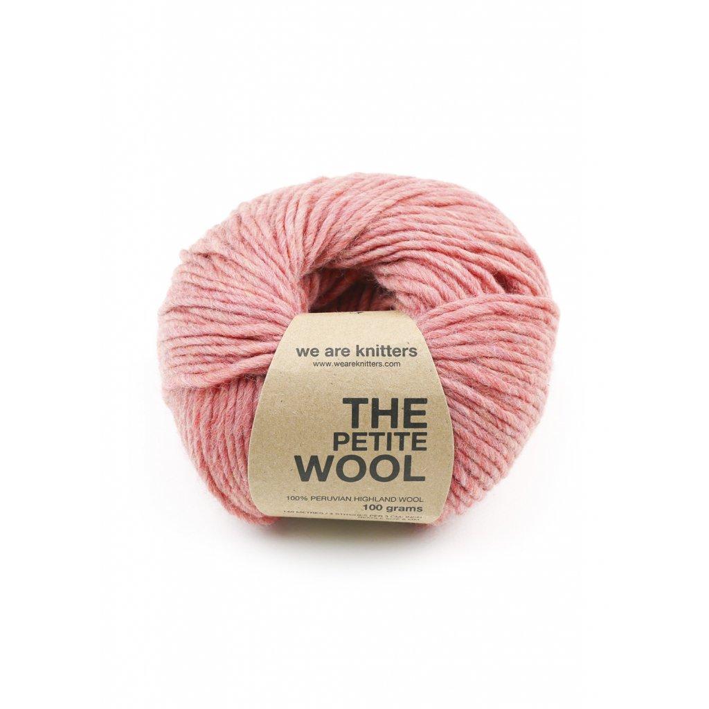 petite wool yarn ball knitting spotted pink 1