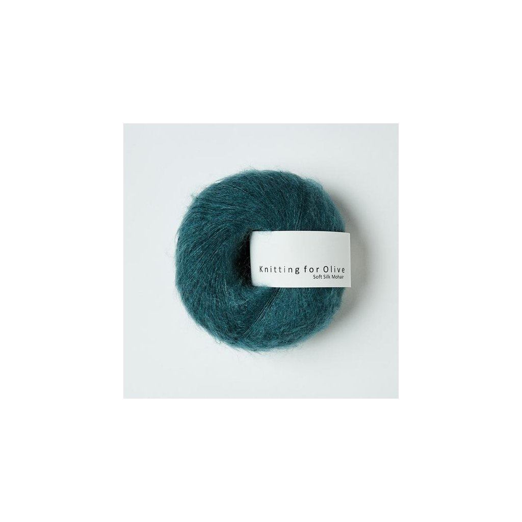 Knitting for olive soft silk mohair stovet petroliumsgron 8351 540x