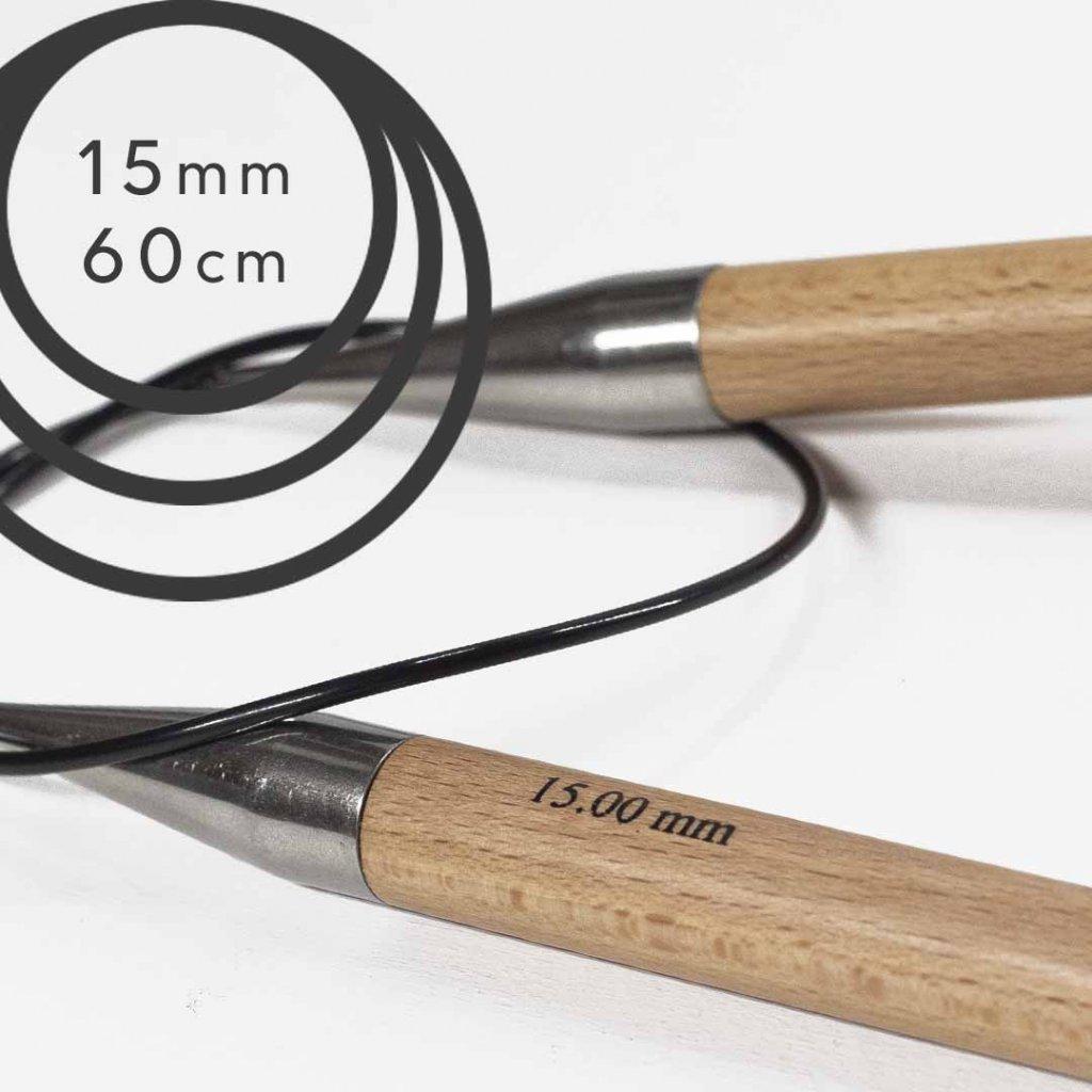 Pevné kruhové jehlice BASIC 60cm - 15 mm