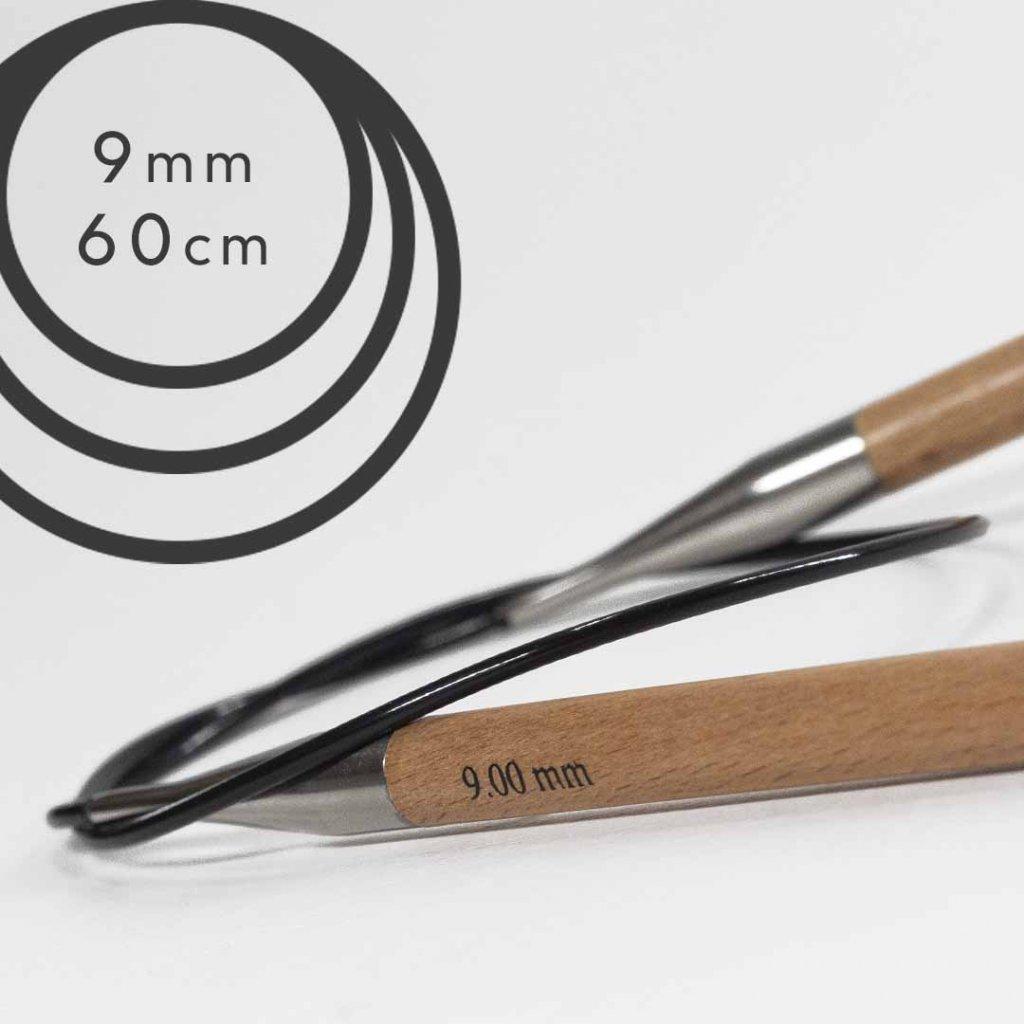 Pevné kruhové jehlice BASIC 60cm - 9 mm