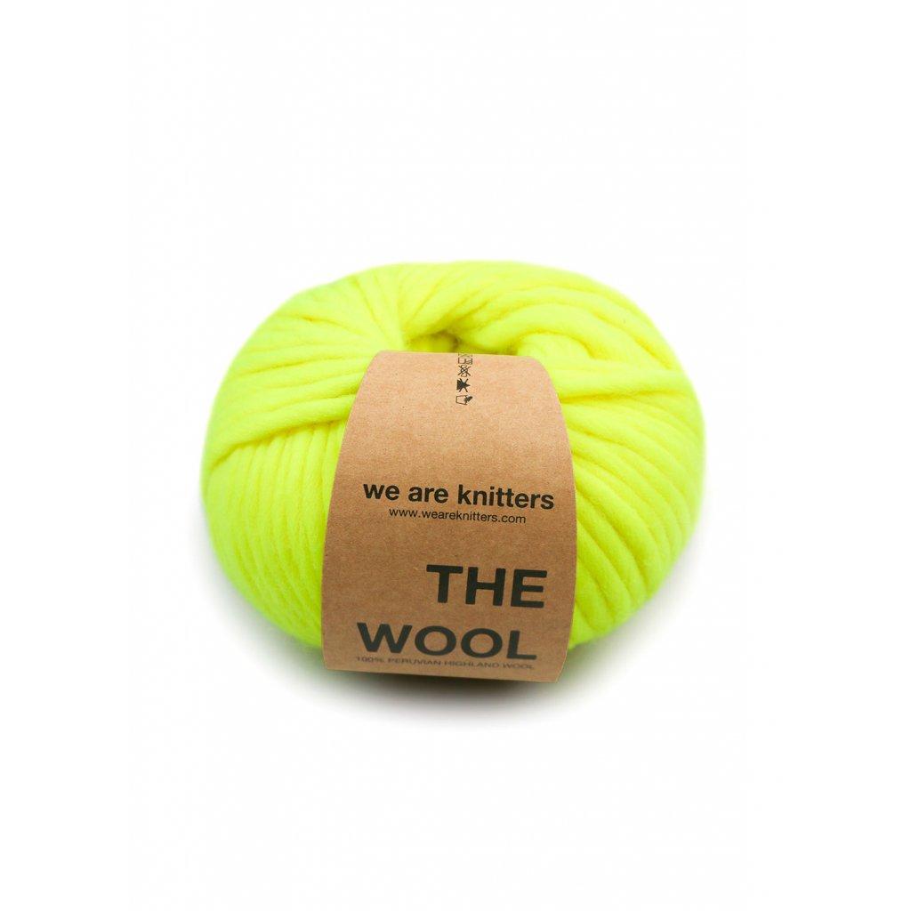 skein wool neon yellow EN 01