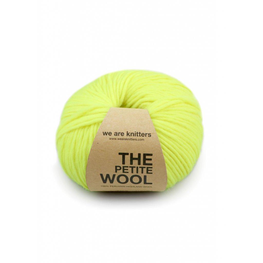 skeins knitting petite wool neon yellow EN 01