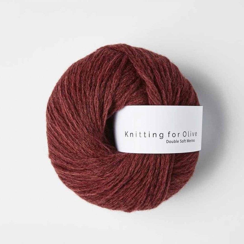 Knitting for Olive Double Soft Merino - Claret