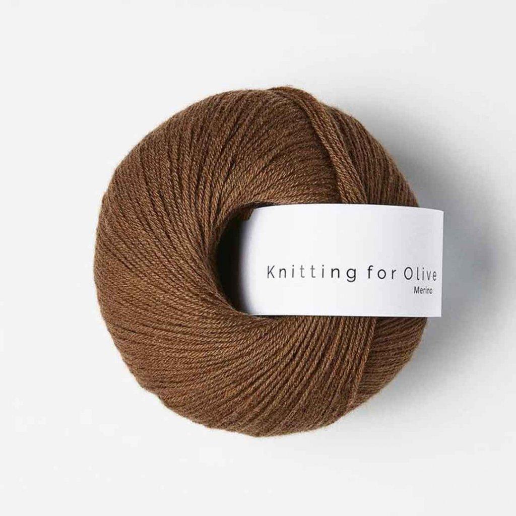 Knitting for Olive Merino - Dark cognac