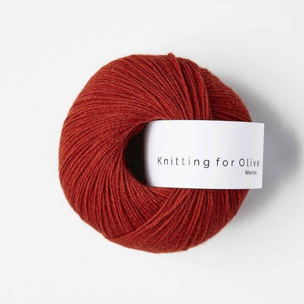 Knitting for Olive Merino - Pomegranate