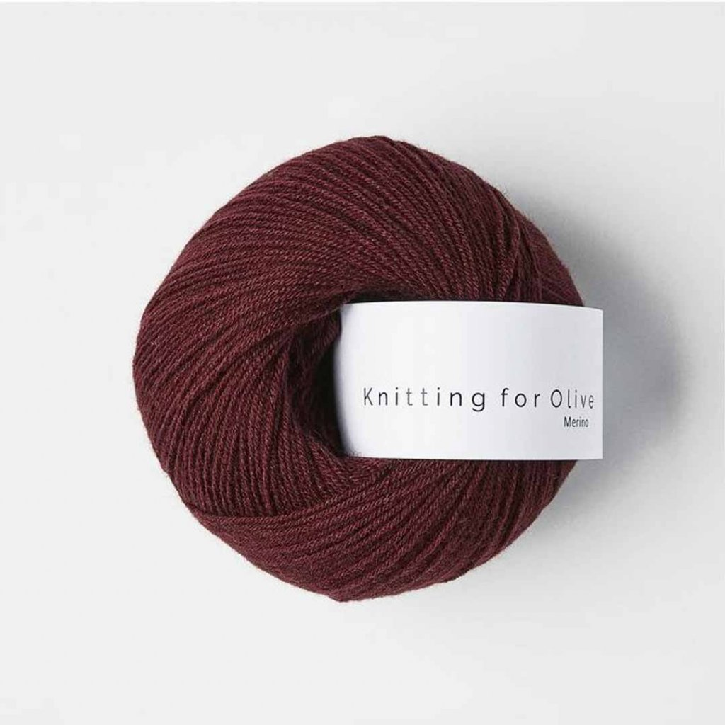 Knitting for Olive Merino - Bordeaux