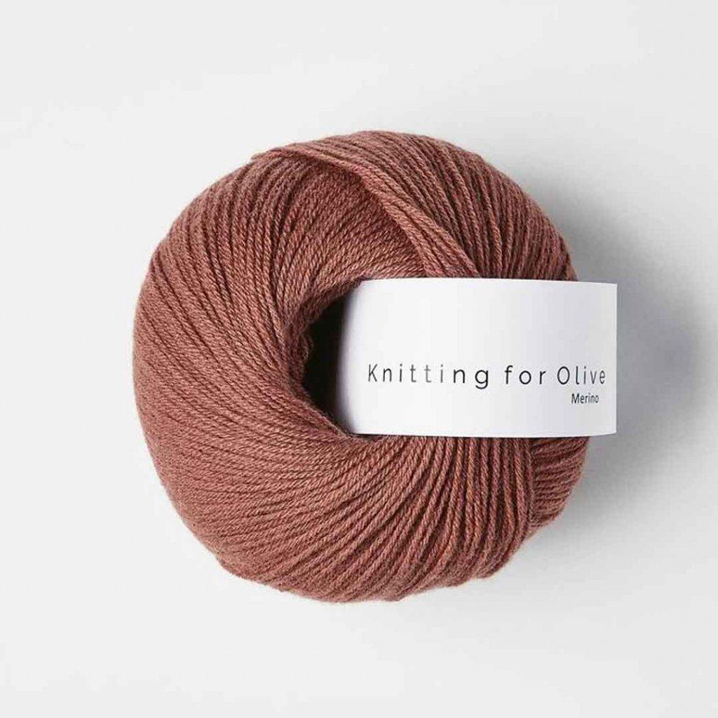 Knitting for Olive Merino - Plum rose