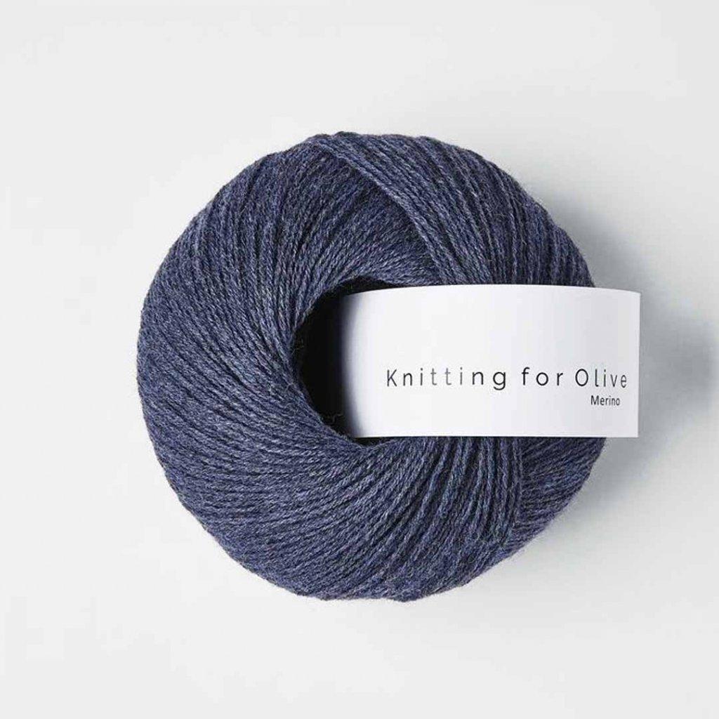 Knitting for Olive Merino - Dark blue