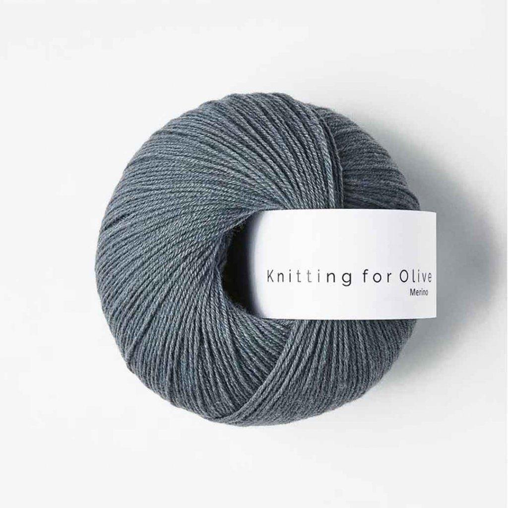 Knitting for Olive Merino - Dusty petroleum blue