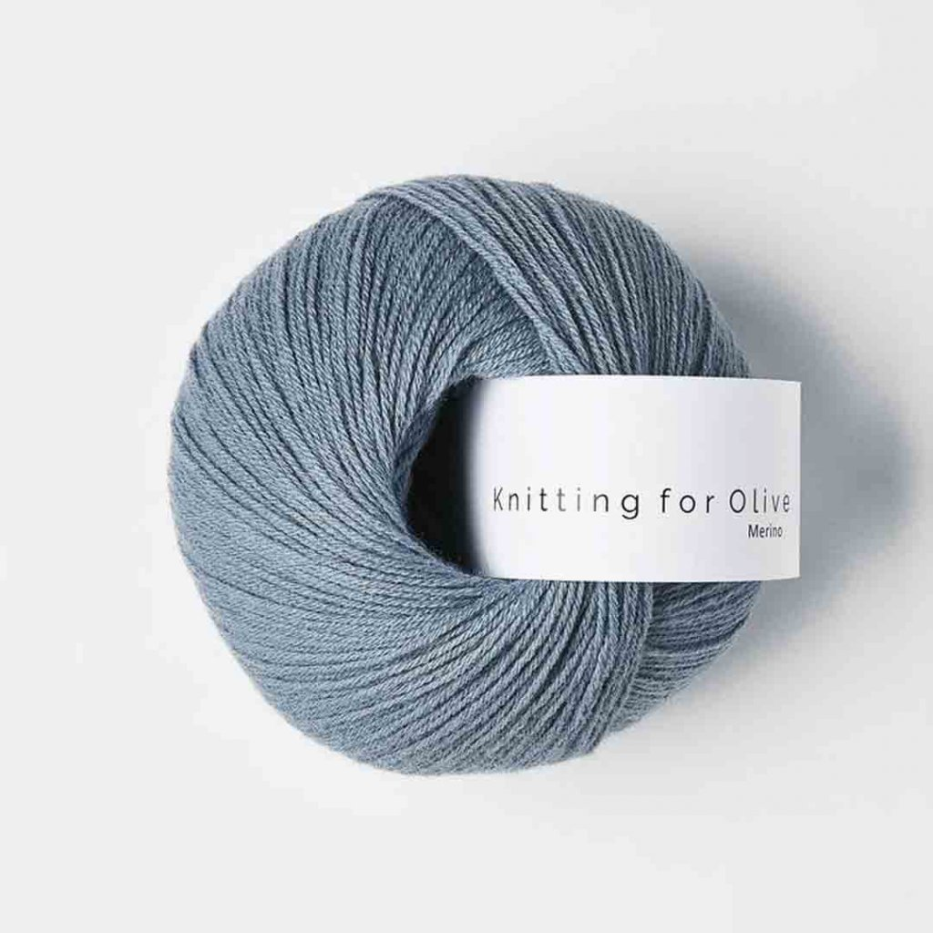Knitting for Olive Merino - Dusty dove blue