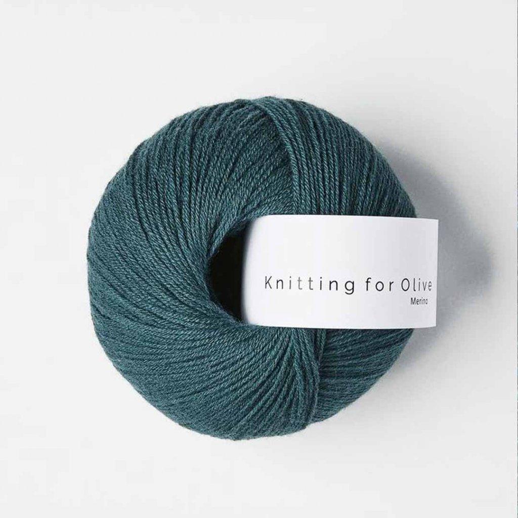 Knitting for Olive Merino - Petroleum green
