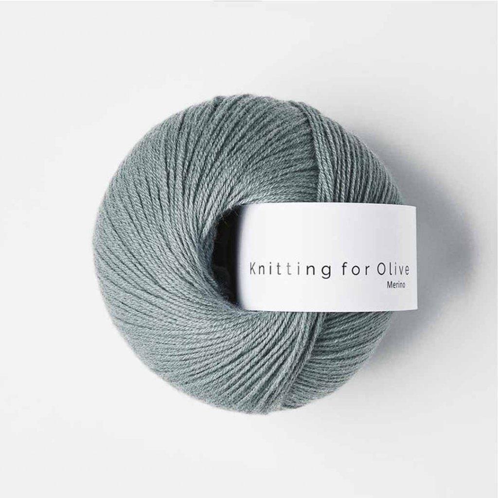 Knitting for Olive Merino - Dusty aqua