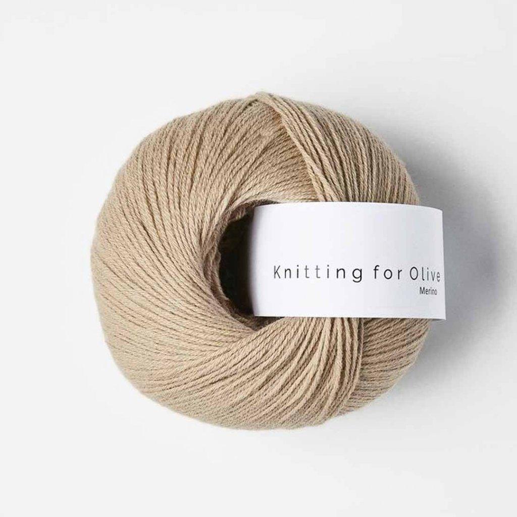 Knitting for Olive Merino - Mushroom rose