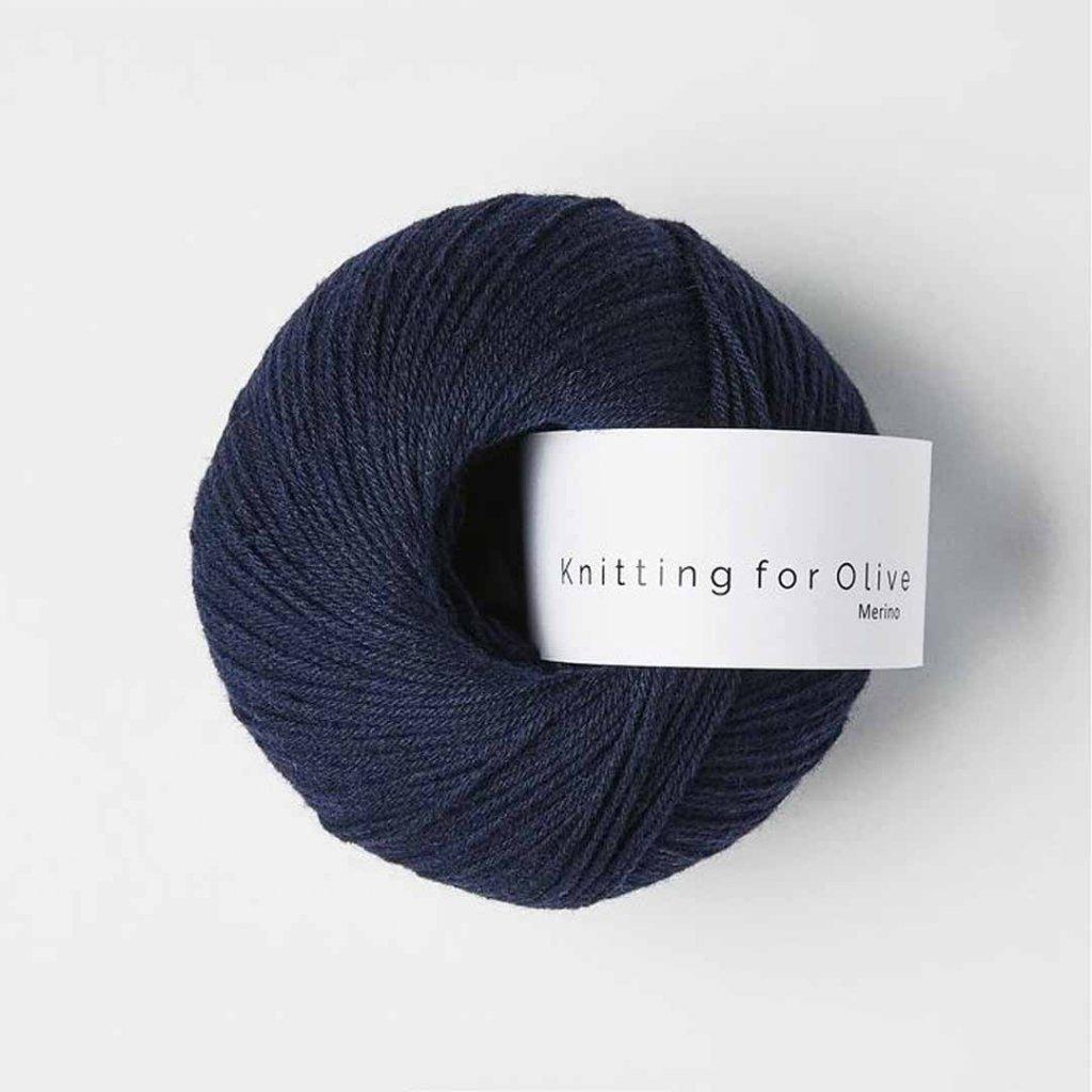 Knitting for Olive Merino - Navy blue