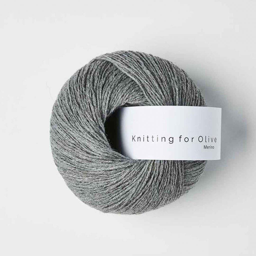 Knitting for Olive Merino - Granite gray