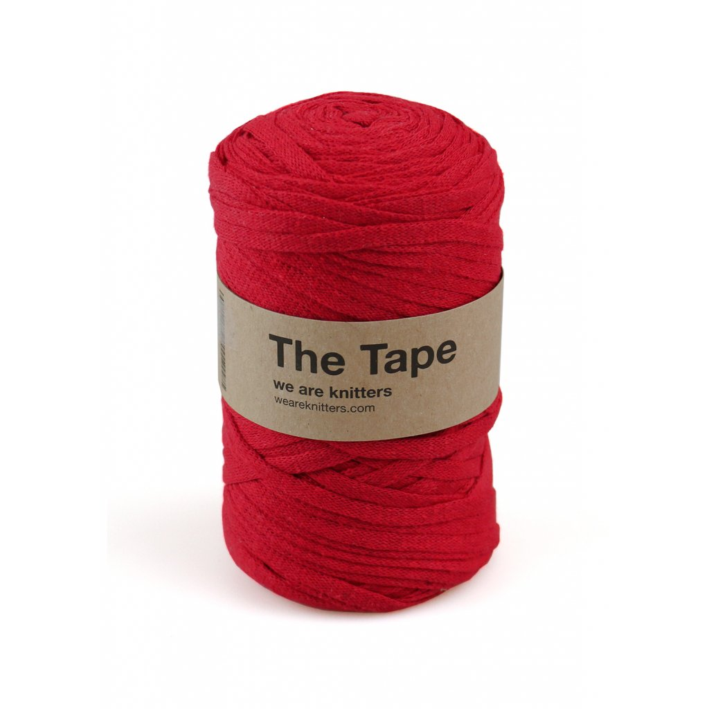 knitting skeins tape red 01