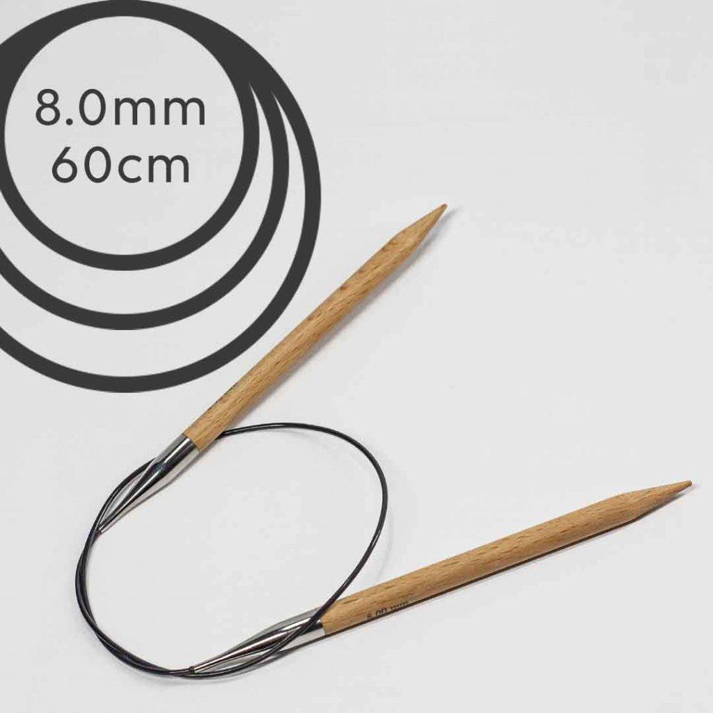 Pevné kruhové jehlice BASIC 60cm - 8 mm