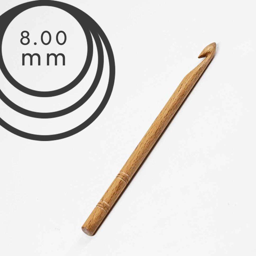 Háček Drops 8,0 mm dřevěný