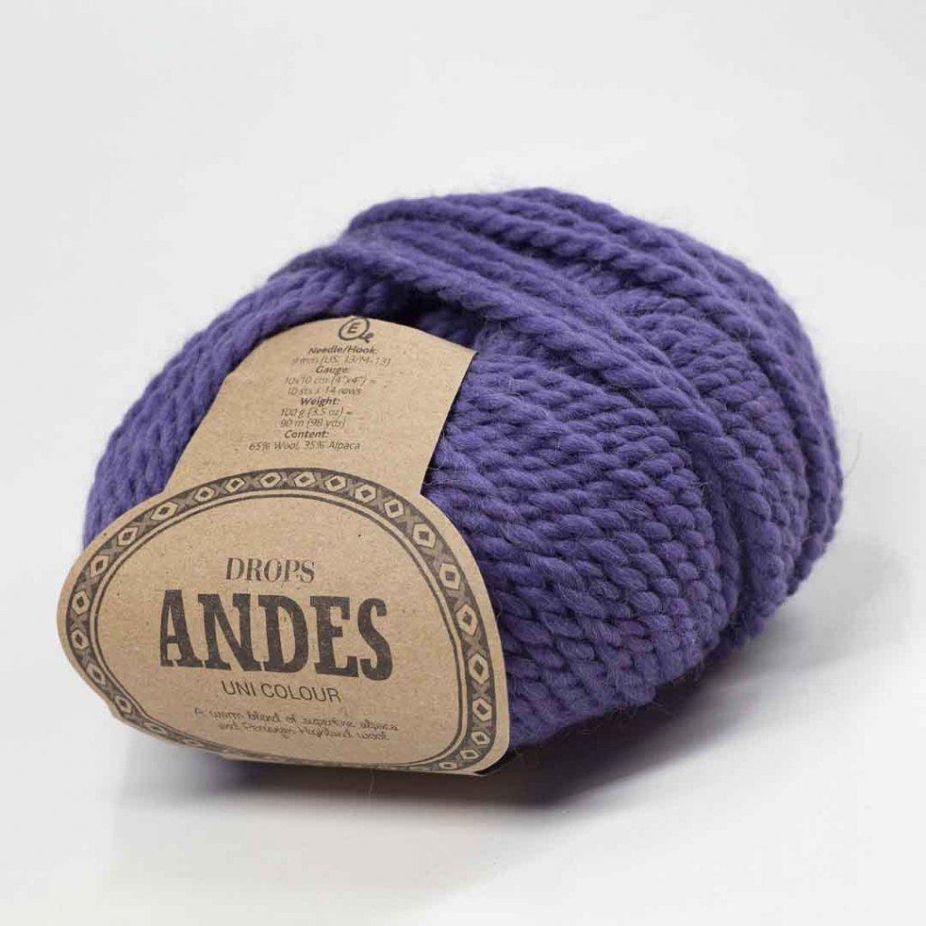 Drops Andes UNI 4301 - starofialová - bazar