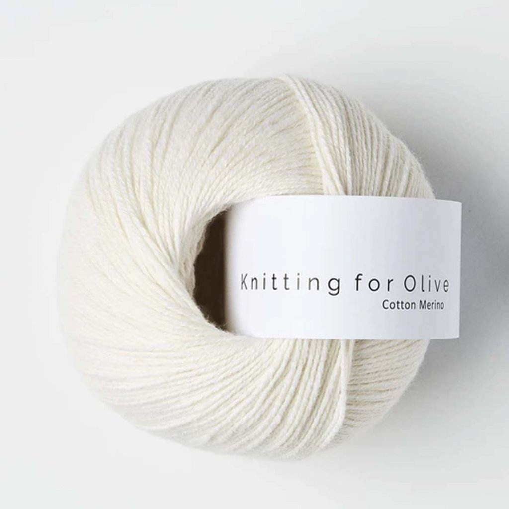 Knitting for Olive Cotton Merino - Natural White