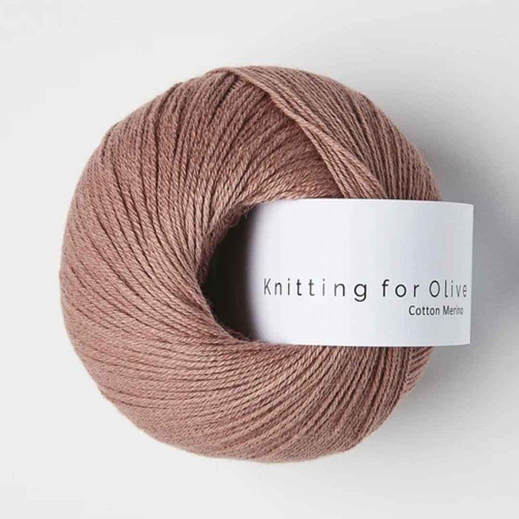 Knitting for Olive Cotton Merino - Terracotta Rose