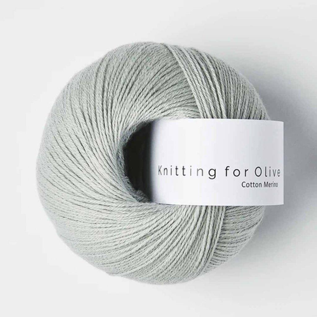 Knitting for Olive Cotton Merino - Soft Aqua