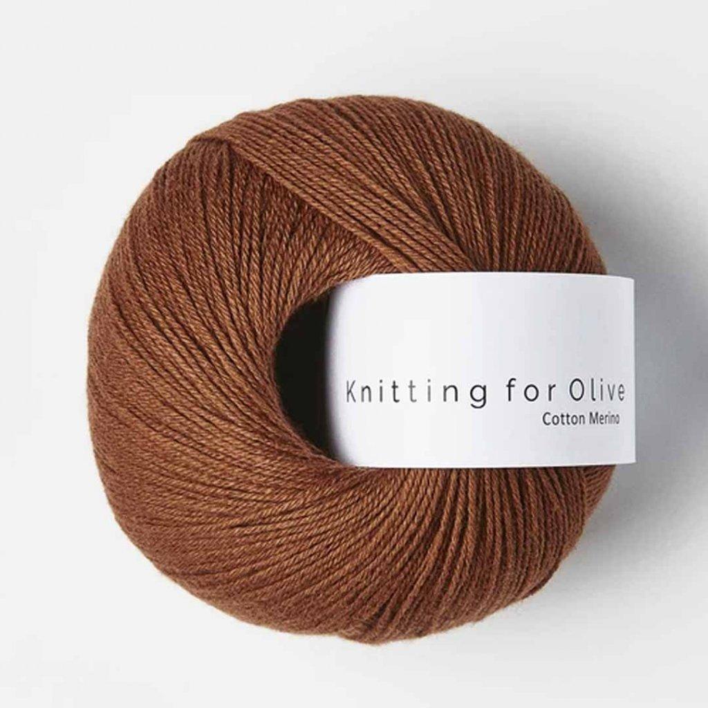Knitting for Olive Cotton Merino - Rust