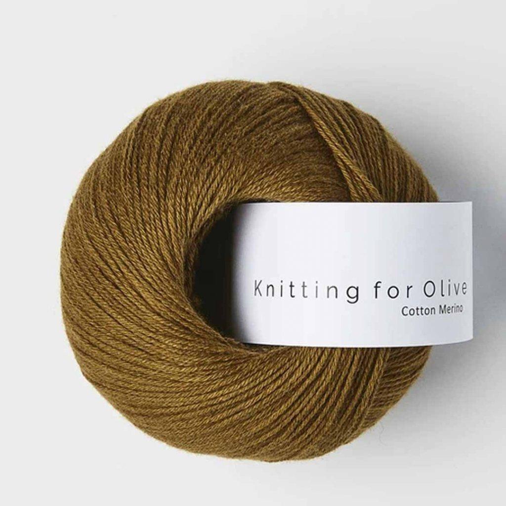 Knitting for Olive Cotton Merino - Ocher Brown