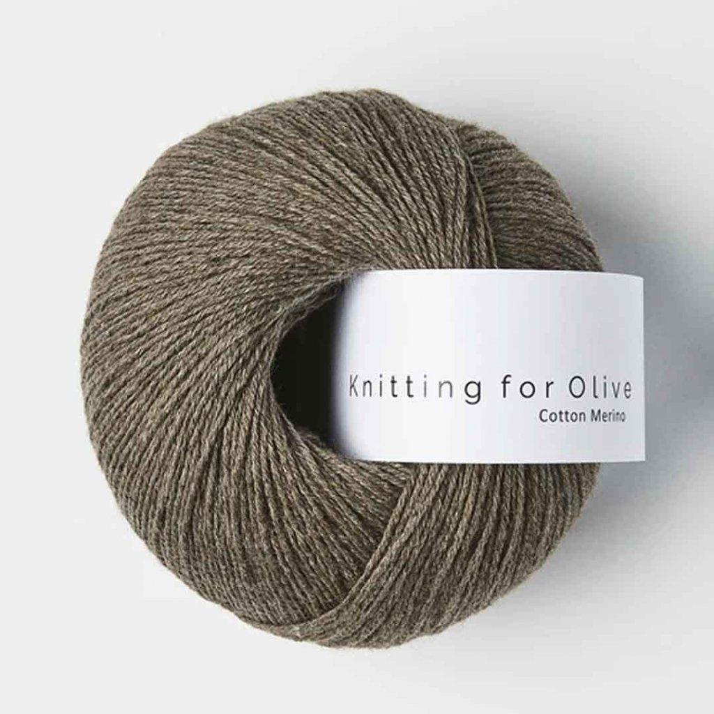 Knitting for Olive Cotton Merino - Mole