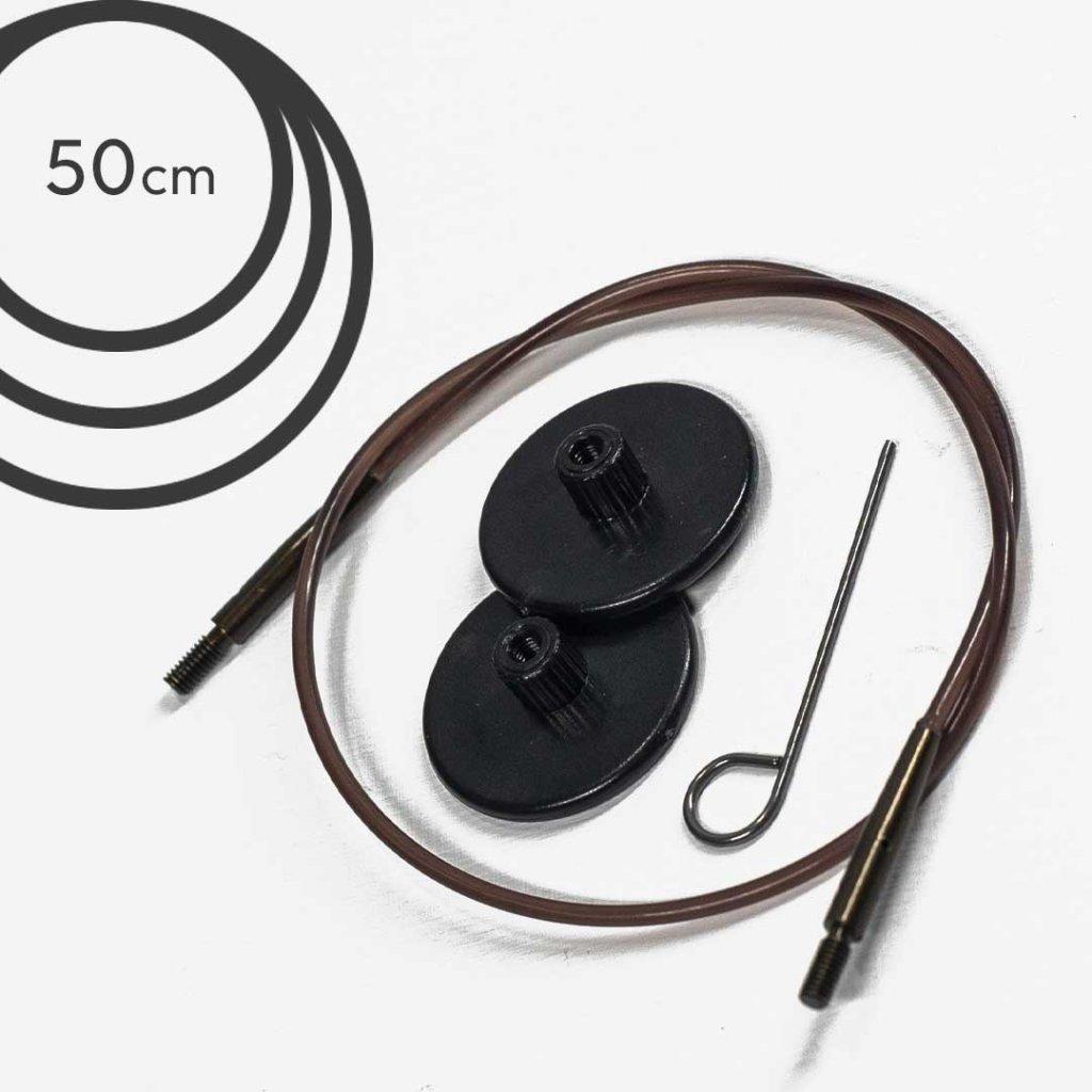 Lanko Knit Pro - 50 cm (hnědé)