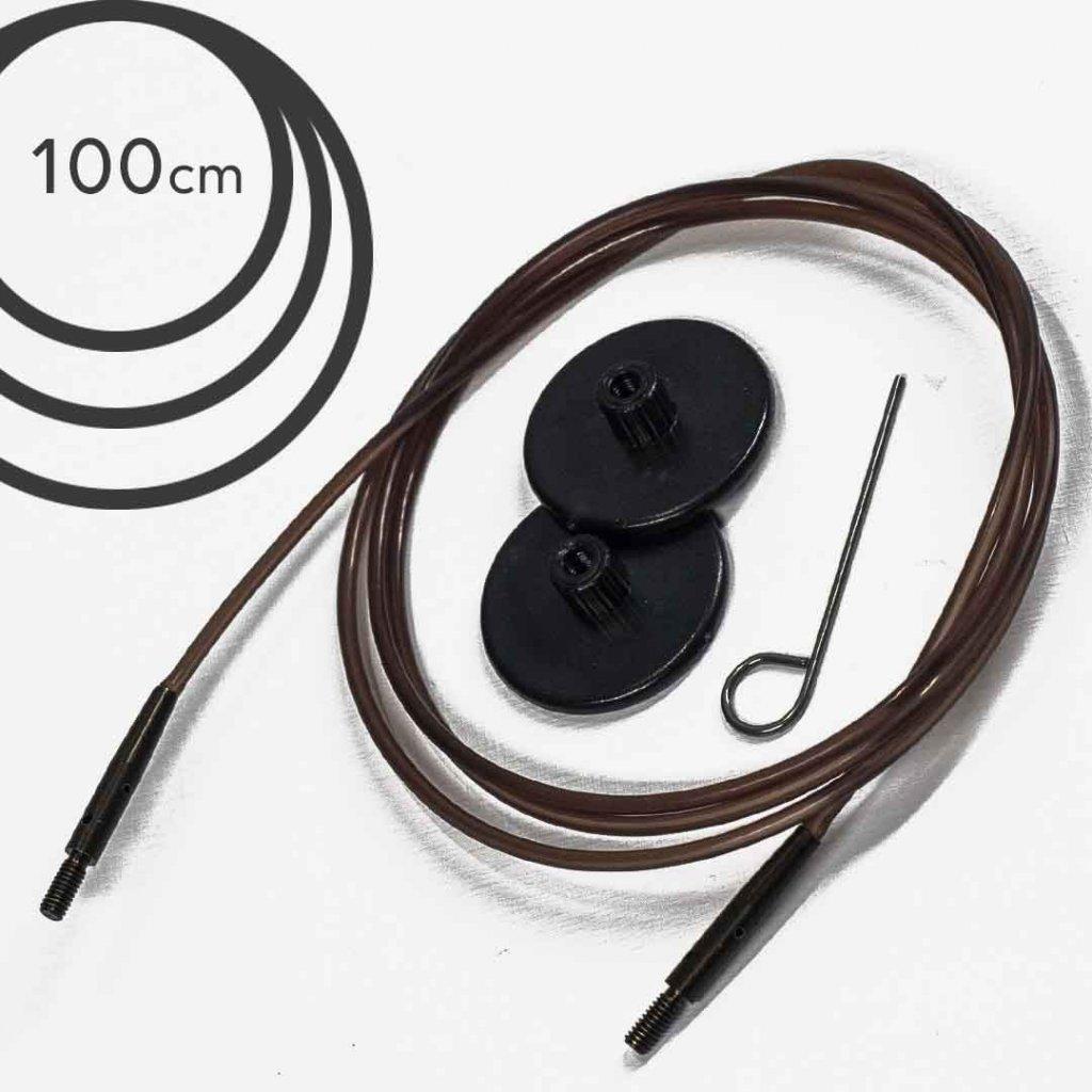 Lanko Knit Pro - 100 cm (hnědé)