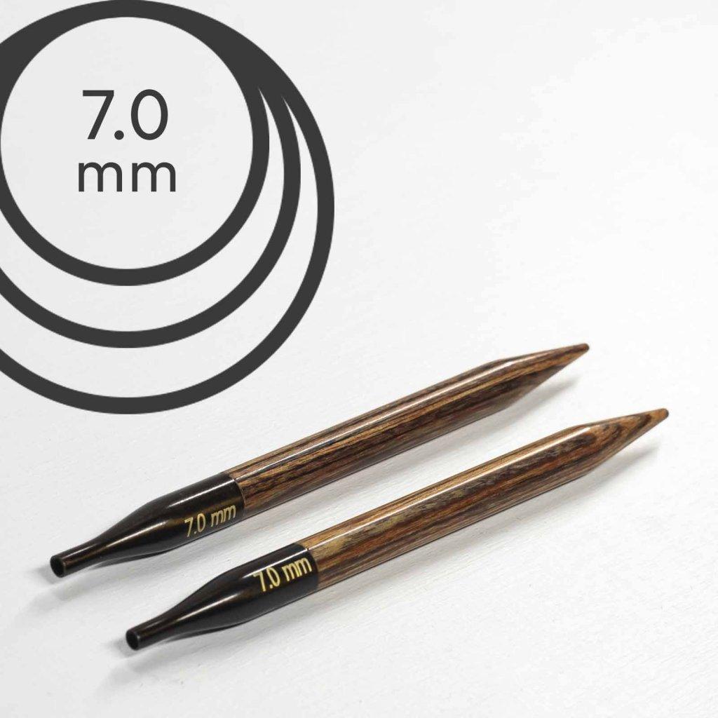 Jehlice kruhové výměnné Knit Pro ginger - 7.00 mm (zkrácené)