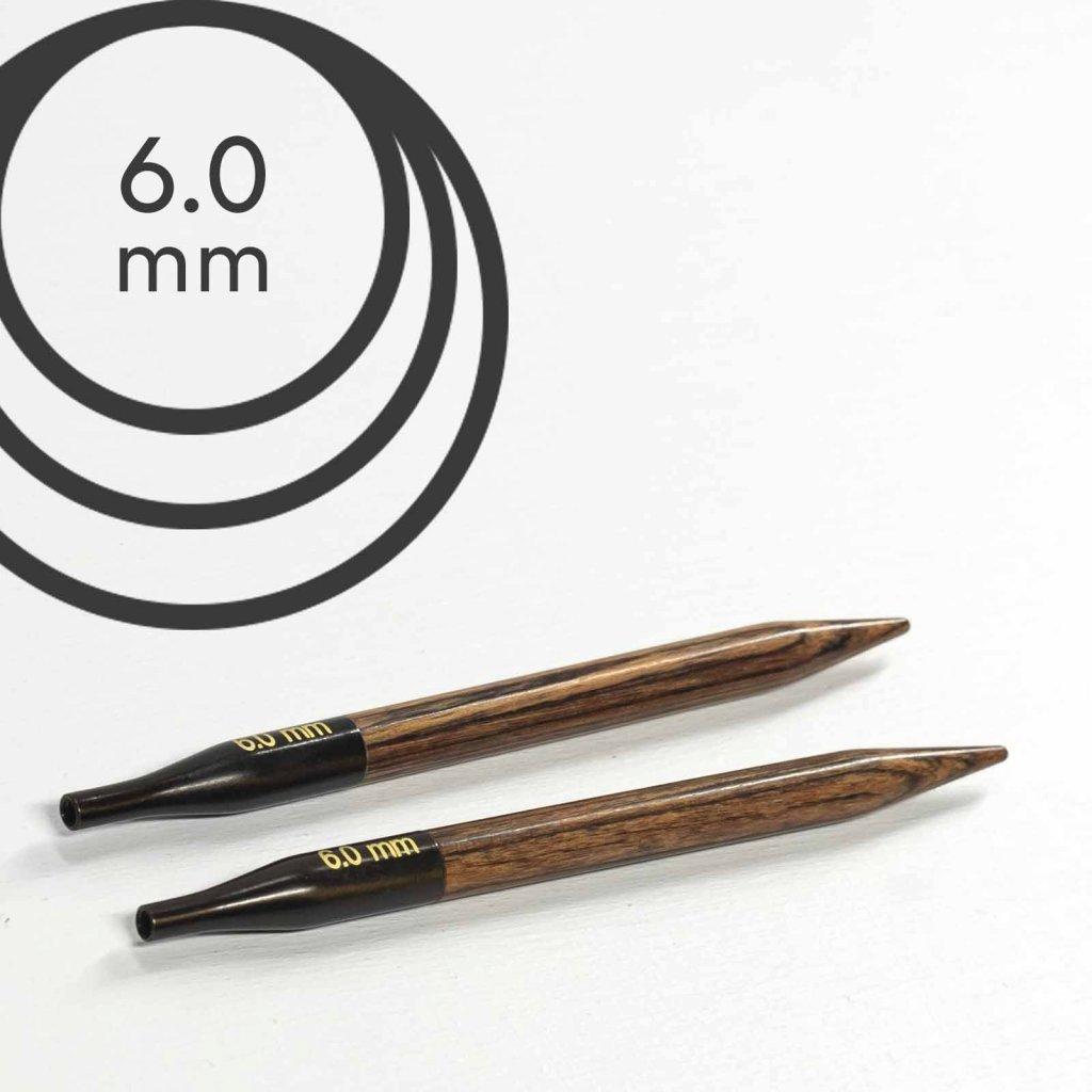 Jehlice kruhové výměnné Knit Pro ginger - 6.00 mm (zkrácené)