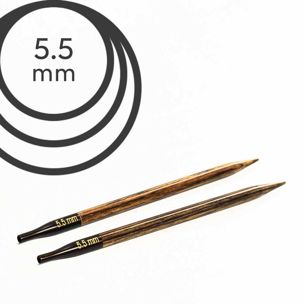 Jehlice kruhové výměnné Knit Pro ginger - 5.50 mm