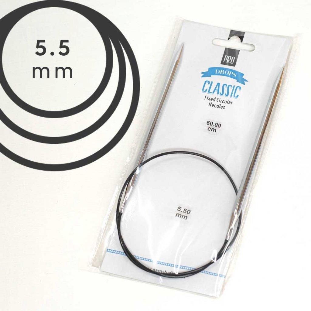 Pevné kruhové jehlice PRO CLASSIC 60cm - 5,50 mm