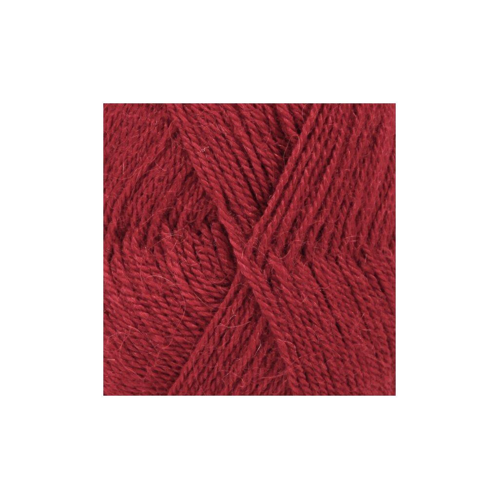 Drops Alpaca UNI 3900 - tmavá červená