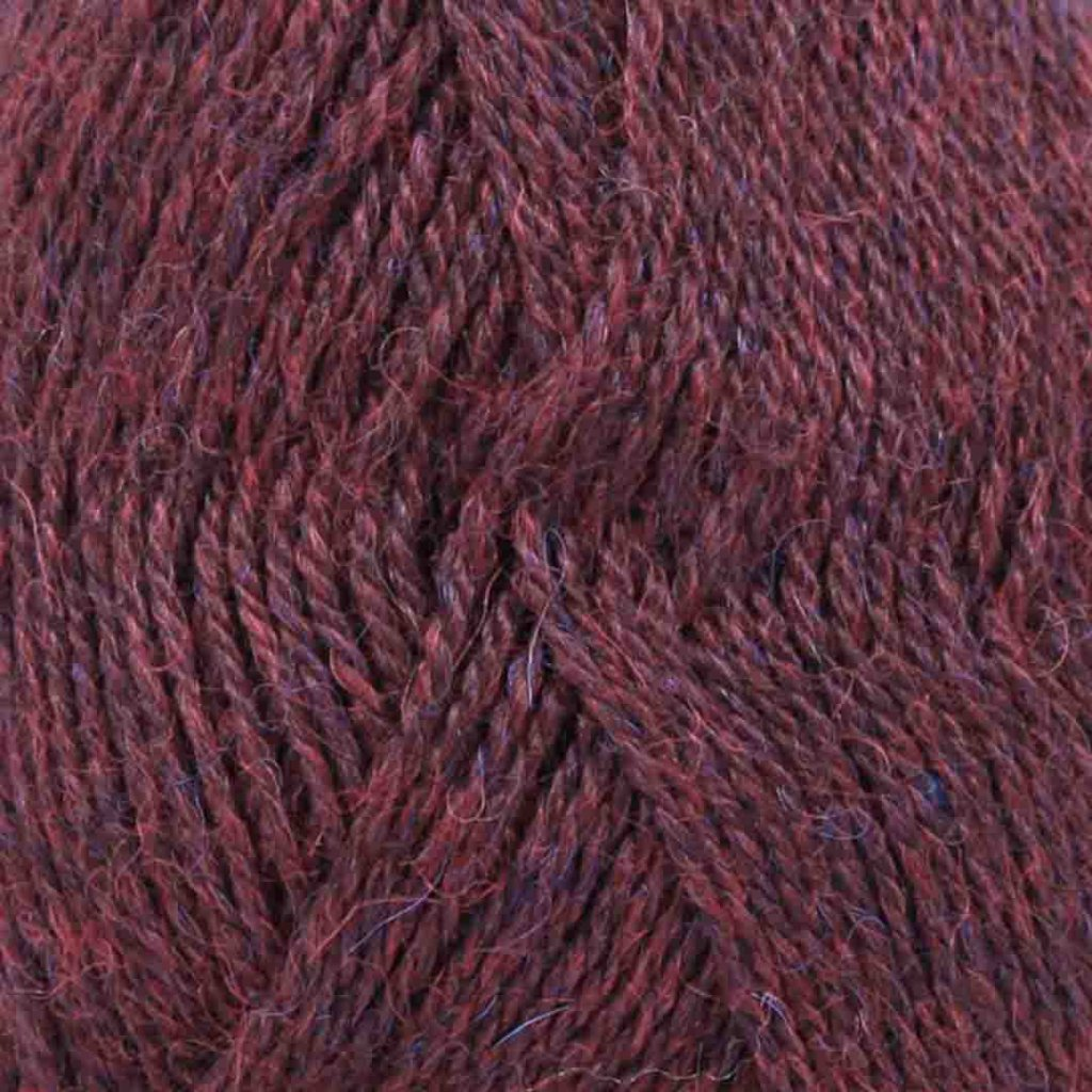 Drops Alpaca MIX 3969 - bordó/fialová