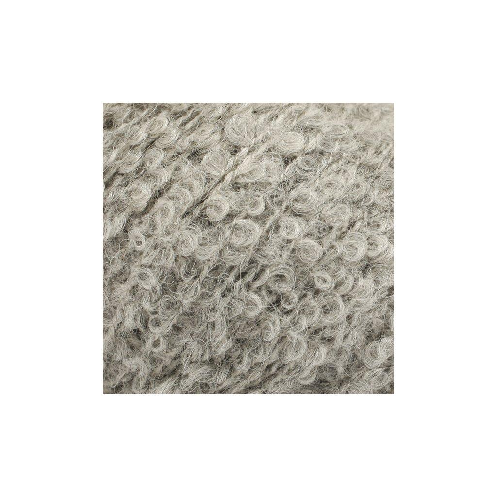 Drops Alpaca Bouclé 5110 - světlá šedá