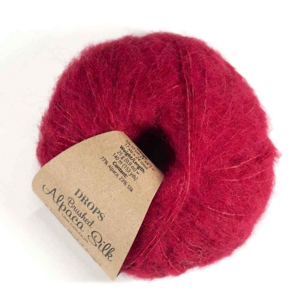 Drops Brushed Alpaca Silk 07 - červená