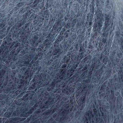 Brushed Alpaca Silk 25 - ocelově modrá